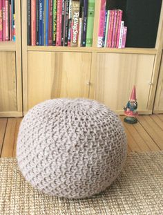free knitting pattern for this poufe- very current... though probably won't be by the time I get around to learning how to knit...lol