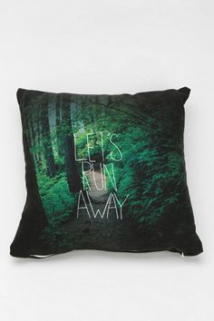 Leah Flores For DENY Let's Run Away Pillow - Urban Outfitters #pillow #pillows #uo