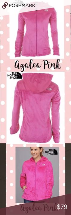 North Face Oso Hoodie Fleece Jacket Azelea Pink This full zip jacket is made with silken fleece;a luxuriously cozy fleece that makes even the softest bunny fur feel a bit rough. Abrasion-resistant taffeta panels cover the shoulders, aiding in this hoodie's durability.Two sleek hand pockets provide space to stash your hands,or other petite items. FEATURES INCLUDE * Attached elastic-bound hood * Two hand pockets;Elastic-bound cuffs * Hem cinch-cord  COLOR SOLD OUT ONLINE AND AMAZON. The North…