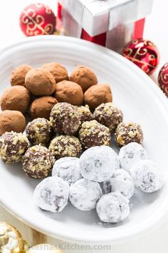 Homemade chocolate truffles are so easy to make! These chocolate truffles have a cream cheese base and are completely irresistible!   natashaskitchen.com