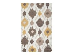 Mello Yellow Rug by CORT. Cute ikat rug for a small apartment! | cort.com