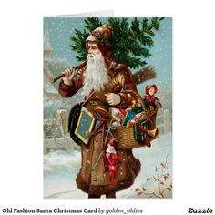 Old Fashion Santa Christmas Card