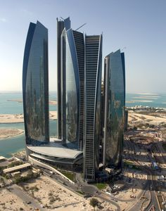 Futuristic Architecture, Etihad Towers, Abu Dhabi, Future Architecture, Skyscrapers, DBI Design