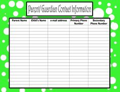 pto sign in sheets