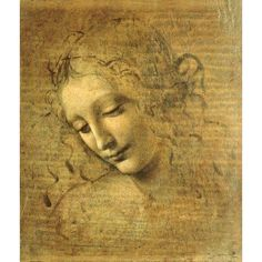 Head Of A Young Woman La Scapigliata (The Lady Of The Disheveled Hair) Canvas Art - (18 x 24)