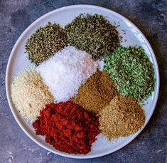 This Easy Mediterranean Herb and Spice Mix is really simple to make and extremely versatile. Use it as a rub for chicken, pork or fish or use as a general seasoning for soups and stews. Homemade Dry Mixes, Homemade Spice Blends, Homemade Spices, Homemade Seasonings, Spice Mixes, Spice Rub, Pork Seasoning, Greek Seasoning, Seasoning Mixes