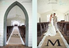 Burlap Wedding Aisle Runner - From 10 Great Ways To Use Burlap At Your Wedding