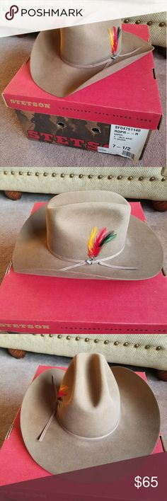 Men's Stetson Cowboy Hat Men's Stetson Cowboy hat, size 7 1/2 in EUC! Only worn twice! Please see all pics and any questions welcome. Thanks for looking!😊 Stetson Accessories Hats