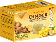 Ginger Honey Crystals with Lemon Instant Tea #HerbalTea