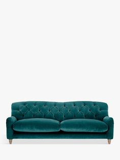 Crumble Grand 4 Seater Sofa by Loaf at John Lewis, Clever Velvet Real Teal at John Lewis & Partners