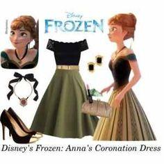 Frozen Anna's Coronation dress inspired. Winter Wonderland wedding Frozen theme Bridesmaid dress