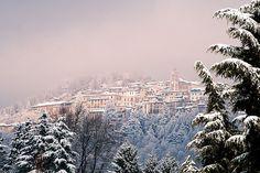 Sacro monte varese with snow