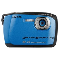 Otek 8MP Waterproof Digital Camera Blue and Black - Free Shipping- - TopBuy.com.au