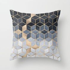 Buy Soft Blue Gradient Cubes Throw Pillow by elisabethfredriksson. Worldwide shipping available at Society6.com. Just one of millions of high quality products available.