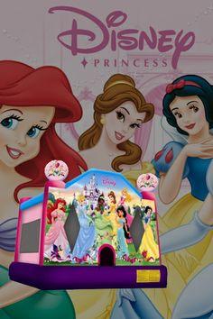 Disney Princesses 2 Bouncy Castle  #disney #princesses #bouncycastles #jumpingcastles #inflatables