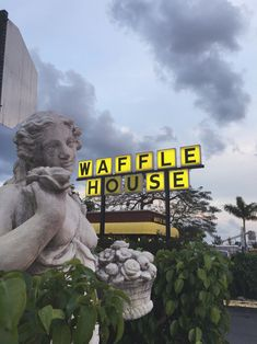 "planettes: "" sit-down-hamilton: "" dont know what kind of aesthetic this is but i know that i am Digging It "" someone transpose waffle house in katakana so itll b vaporwave "" Sea Of Monsters, Southern Gothic, Heroes Of Olympus, Diabolik, Vaporwave, Percy Jackson, Mount Rushmore, Angel, Neon"