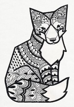 Doodle Fox | Urban Threads: Unique and Awesome Embroidery Designs