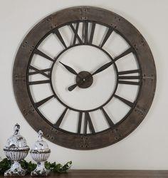 "BellaSoleil.com - Ronan 40"" Roman Numeral Clock, $272.80 (http://www.bellasoleil.com/ronan-40-roman-numeral-clock/)"
