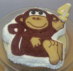 Em's Monkey Cake from Wilton Cake Pan.