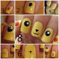 Tutorial: unhas de Pikachu