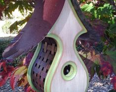 Wooden BIRD HOUSES Outdoor Birdhouse Bird by MikeMerrittArt