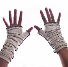 Romeo and Juliet writing gloves / StoriArts / $26.