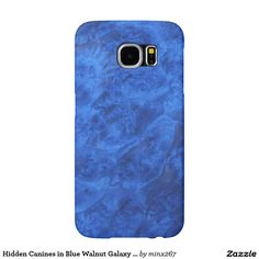 Hidden Canines in Blue Walnut Galaxy S6 case