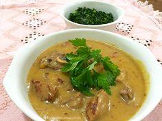 Canjiquinha com carne, receita tradicional paulista.