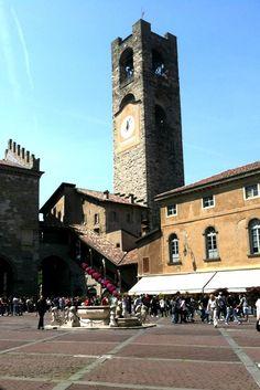 Bergamo Torre Civica in Piazza Vecchia Photo by Margie Miklas