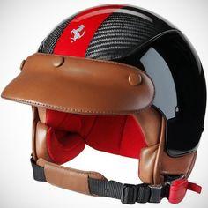 Ferrari dog helmet