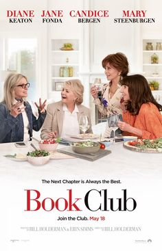 BOOK CLUB (2018) - Diane Keaton - Jane Fonda - Candace Bergen - Mary Steenburgen -Movie Poster