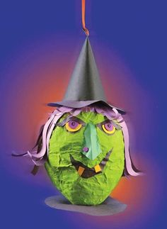 Craft Ideas : Projects : Details : scary-witch-pinata