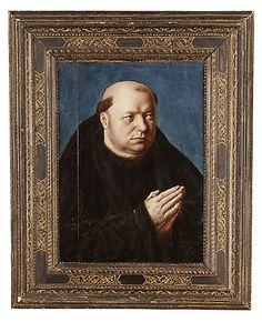 Portrait of a Monk, unknown French painter, oil on panel, c. 1500. Metropolitan Museum of Art accession no. 37.155