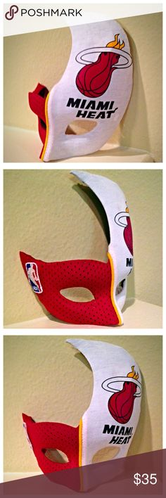 MIAMI HEAT Halloween / Masquerade Mask 🎃 MUST ORDER BY TUESDAY 10/25 & SELECT PRIORITY SHIPPING IF YOU NEED THIS MASK BY 10/31 (Cheaper on my Etsy site... See link in bio)  Perfect lightweight mask for any event! This mask is made of high quality plastic with a felt backing for comfort. One size fits most.  MASK ARE AVAILABLE IN DIFFERENT STYLES AND DIFFERENT SPORTS TEAMS OR THEMES.   **Togged 2 The Bricks is not affiliated with or endorsed by the NBA. This is not an officially licensed NBA…