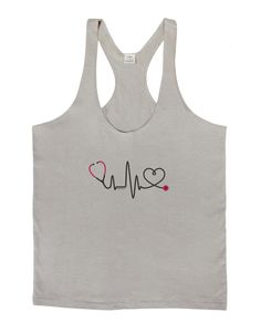 Stethoscope Heartbeat Mens String Tank Top