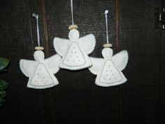 Christmas angelsfor my granddaughters xmas 2011   adapted from etsy