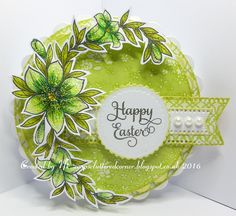 Good evening all. Today I am showcasing one of the many new stamps that Sue has had in stock by the fabulous Honey Doo stamps. I hav. Christmas Card Crafts, Christmas Bulbs, Honey Doo Crafts, Crafts To Do, Paper Crafts, Card Making Techniques, Card Making Inspiration, Flower Cards, Happy Easter