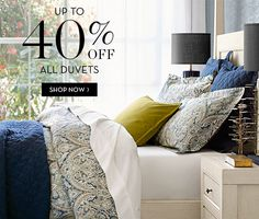 Do you want a new duvet? Shop new bedding with PB and enjoy up to 40% off!