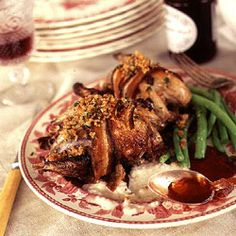 Roast Grouse with Bread Sauce and Game Crumbs by Saveur. For a good grouse recipe, we turned to English chef Simon Hopkinson's Roast Chicken and Other Stories.