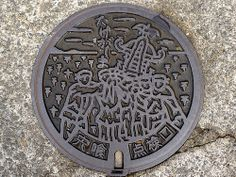 Takegashima Shishikui Tokushima, manhole cover (徳島県宍喰町竹ケ島のマンホール) | Flickr - Photo Sharing!