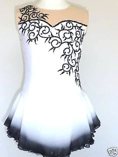 $139 Custom Made to Fit Beautiful Gorgeous Ice Skating Dress | eBay