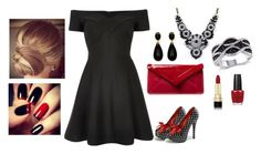 """Bez naslova #4"" by aldina-dina99 ❤ liked on Polyvore featuring River Island, L.K.Bennett, SHOUROUK, OPI, Dolce&Gabbana, women's clothing, women, female, woman and misses"