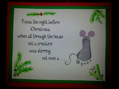 Foot print mouse Twas the night before Christmas Toddler Time Tips https://www.facebook.com/toddlertimetips