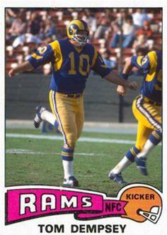 ae86c272c Tom Dempsey Los Angeles Rams Custom Football