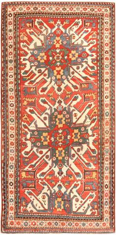 Antique Eagle Kazak Rug 47130 Main Image - By Nazmiyal http://nazmiyalantiquerugs.com/antique-rugs/antique-caucasian-rugs/antique-eagle-kazak-rug-47130/