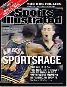 9c863c7e03ea November 29 2004 Ron Artest Indiana Pacers Sports Illustrated for sale  online