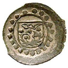 Nassau, Nassau-Holzappel, Adolf, Pfennig o.J., f.st: Adolf 1653-1676. Pfennig o.J. Schild mit gekröntem Holzapfelzweig, darum Faden-… #coins