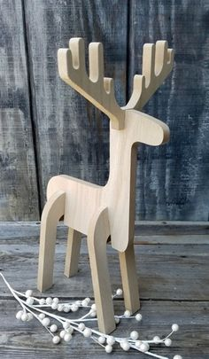 Industrial decor Christmas – Wooden Reindeer Puzzle Christmas Holiday Decor… – Keep up with the times. Wooden Christmas Crafts, Wooden Christmas Decorations, Wooden Crafts, Xmas Crafts, Christmas Projects, Christmas Diy, Holiday Decor, Wood Reindeer, Christmas Trends