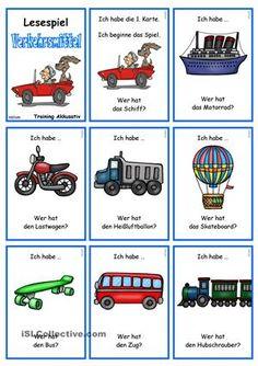 Verkehrs- und Transportmittel 1 _ Lesespiel