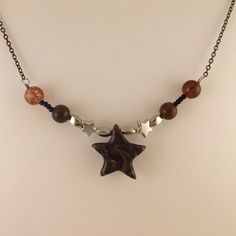 """Star sea polymer clay (FIMO) simple and adorable necklaces, 18"""" - 45cm, It can…"""